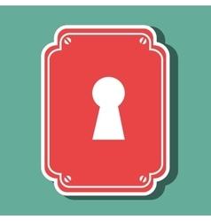 key hole design vector image