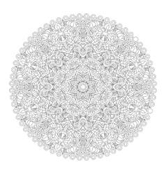 Mandala coloring book vector image vector image