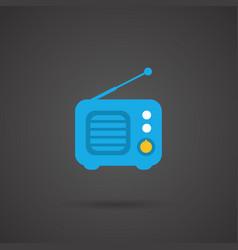 Media icon - radio vector