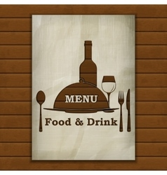 menu stencil from old paper on the background of vector image vector image