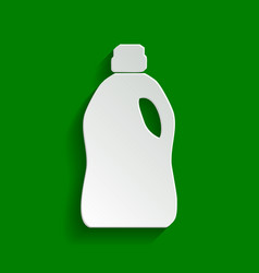 Plastic bottle for cleaning paper whitish vector