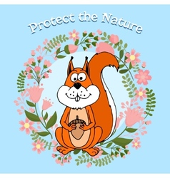 Protect the nature poster vector