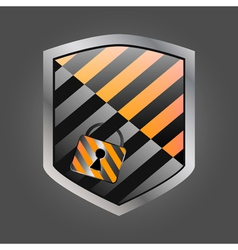 Security shield with lock 1 vector image vector image