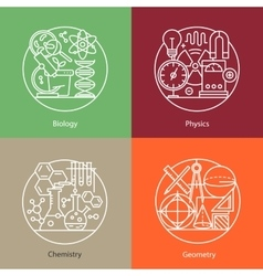 Set of logos biology physics chemistry vector