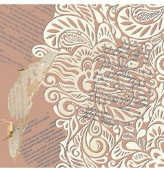 Shabby vintage wallpaper background vector image vector image