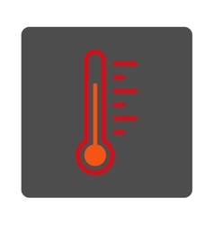 Temperature level rounded square button vector