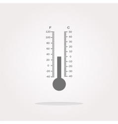 Thermometer web icon button vector image