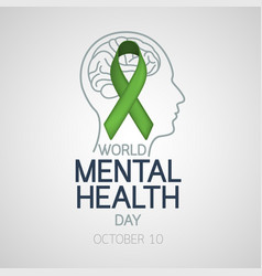 world mental health day icon vector image