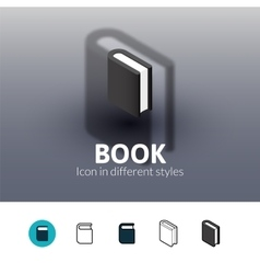 Book icon in different style vector