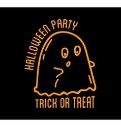 Happy Halloween design Black badge and labelt vector image