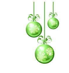 Christmas balls on white background vector