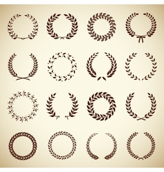 Collection of vintage laurel wreaths vector
