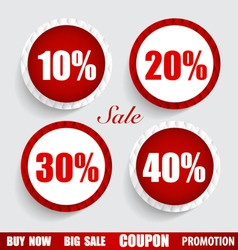 Sale coupon voucher tag sticker modern style vector