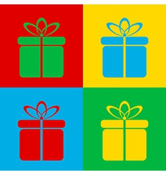 Pop art gift vector