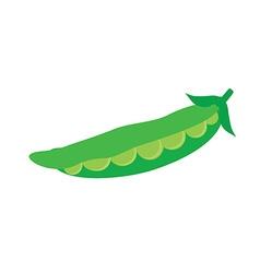 Pod of peas vector image