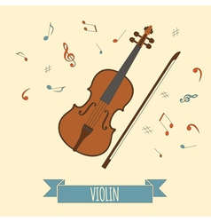 Musical instruments graphic template violin vector