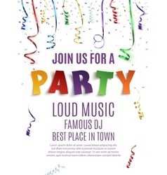 Party poster template vector