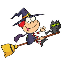Happy Halloween Witch vector image