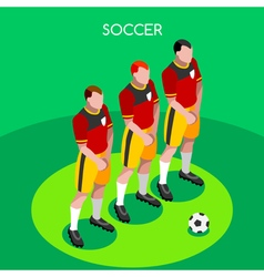 Soccer Barrier 2016 Summer Games 3D Isometric vector image