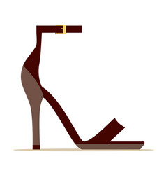 Ankle strap scarlet shoe isolated vector