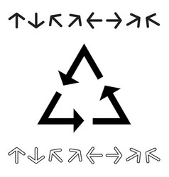 Arrow icon set collection vector