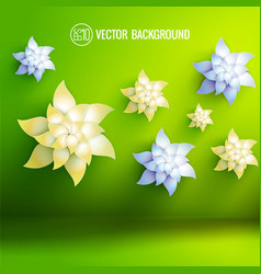 Artificial flowers background vector