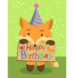 Birthday Fox Cartoon vector image vector image
