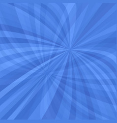 Blue curved ray burst background - vector