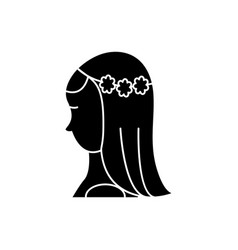 bride icon sign on isolate vector image