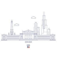 Chicago city skyline vector