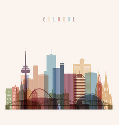 Cologne skyline detailed vector