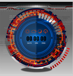 Cyber timer vector