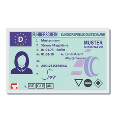 Driving license for berlin icon flat style vector