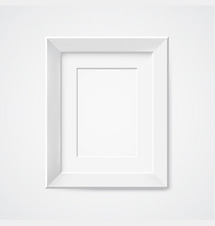 gray rectangular photo frame with shadow vector image vector image