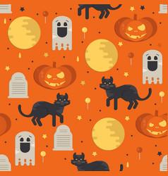 halloween concept seamless pattern vector image