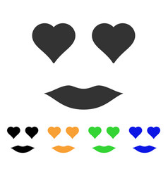 lady love smile icon vector image vector image