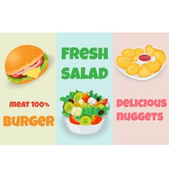 Mix fast food vector image vector image