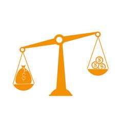 Money in balance icon vector