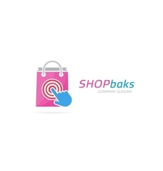 package and click logo combination Shop vector image vector image