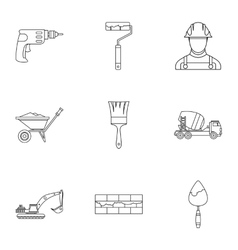 Repair icons set outline style vector image vector image