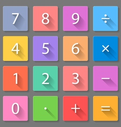 Set of calculator flat icons vector