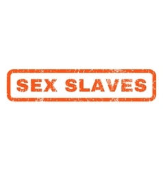 Sex slaves rubber stamp vector