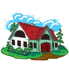 Sketchy doodle hand-drawn house cottage vector