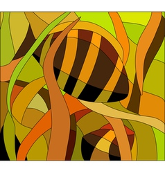 Stained glass pattern with underwater view vector