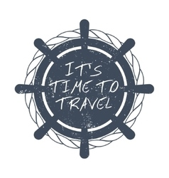 Time to travel motivational card vector image