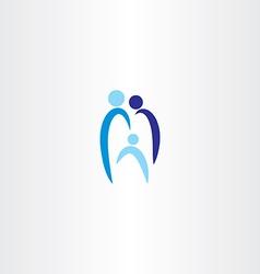 Tooth family logo icon vector