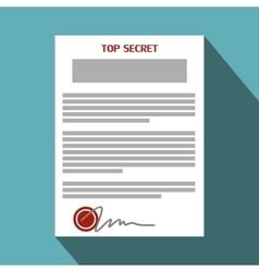 Top secret document flat icon vector