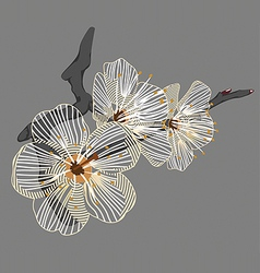 white flower on a branch vector image vector image