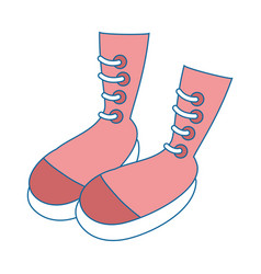 woman fashion boots vector image