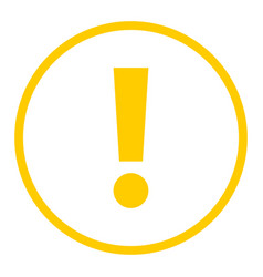 Yellow circle exclamation mark icon warning sign vector